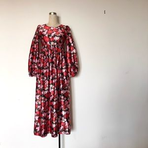 Vintage 60s Homemade Maxi Dress + Bell Sleeves